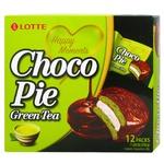 Печиво Lotte Choco Pie Зелений чай 12*28г 336г