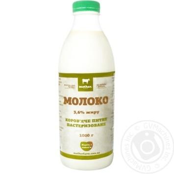 Молоко Mother Farm пастеризованное 3,6% 1кг - купить, цены на Novus - фото 2