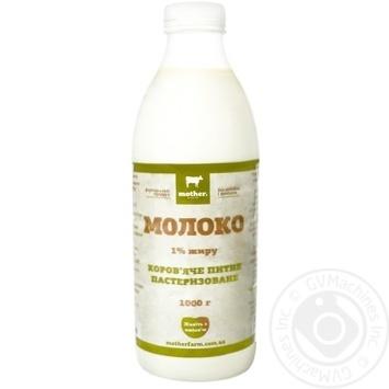 Молоко Mother Farm пастеризованное 1% 1л