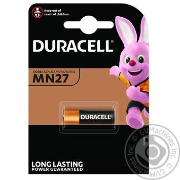 Батарейки алкалиновые Duracell MN27 - купить, цены на Novus - фото 1