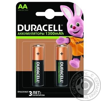Премиальные аккумуляторы Duracell AA, 2 шт. в упаковке - купить, цены на Novus - фото 1
