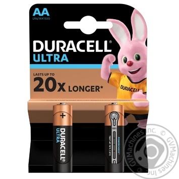Лужні батарейки Duracell Ultra Power AA, 2 шт. в упаковці - купити, ціни на Novus - фото 1