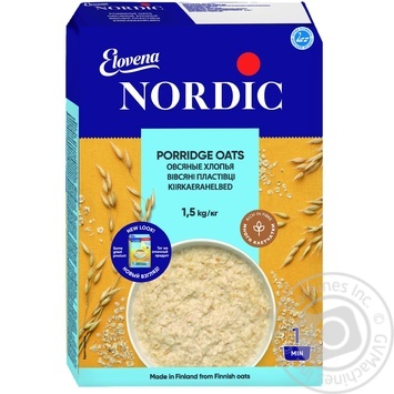 Oat flakes Nordic quick-cooking 1500g - buy, prices for MegaMarket - image 1