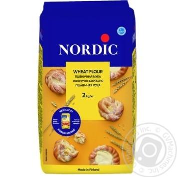 Борошно Nordic пшеничне вищий гатунок 2кг - купити, ціни на Метро - фото 1