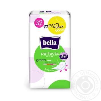 Прокладки Bella Perfecta Ultra Green 4 капли 32шт