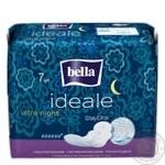 Прокладки Bella Ideale Ultra гигиенические ультратонкие ночные 6 капелек 7шт - купить, цены на Novus - фото 1