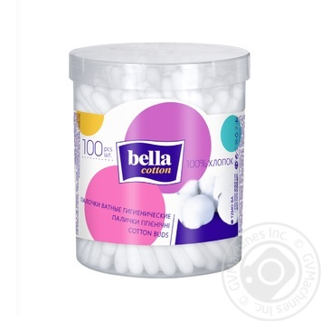 Палички ватні Bella 100шт - купити, ціни на МегаМаркет - фото 1