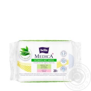 Серветки Bella Medica для інтимної гігієни 20шт - купити, ціни на МегаМаркет - фото 1