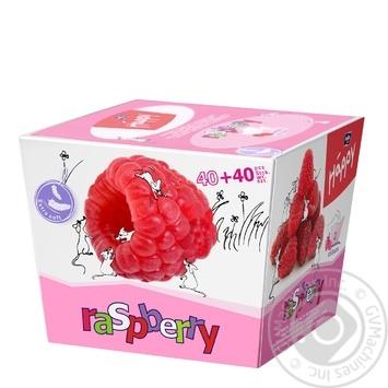 Хустинки паперові унiверсальні двошарові Bella Baby Happy 40+40шт ароматом малини - купить, цены на Novus - фото 1