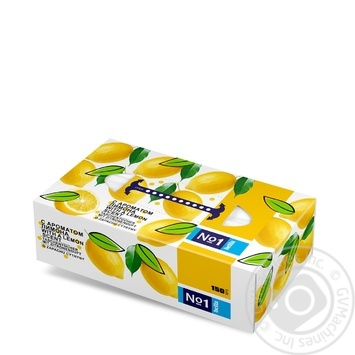Платочки бумажные Bella №1 универсальные двухслойные с ароматом лимона 150шт - купить, цены на Novus - фото 2