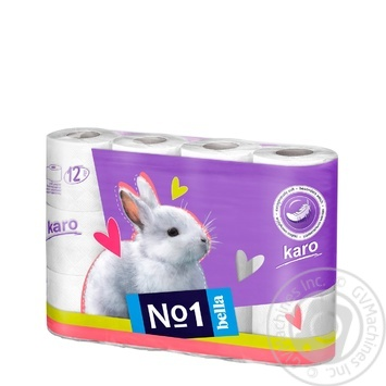 Toilet paper Karo white 12pcs - buy, prices for Novus - image 1