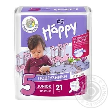 Підгузники Bella baby Happy 5 Junior 12-25кг 21шт - купити, ціни на Novus - фото 1