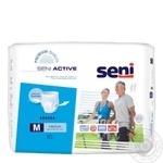 Подгузники Seni Super Active Medium для взрослых 10шт - купить, цены на Novus - фото 1