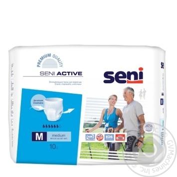 Подгузники Seni Super Active Medium для взрослых 10шт - купить, цены на МегаМаркет - фото 1