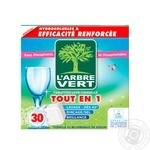 Таблетки для посудомийних машин L'arbre Vert 30шт