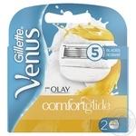 Картриджи для бритья Gillette Venus&Olay сменные 2шт