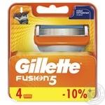Gillette Fusion5 replacement shaving cartridges 4pcs - buy, prices for Novus - image 1