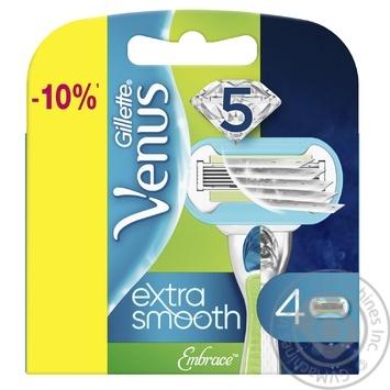 Gillette Venus Embrace replaceable shaving cartridges 4pcs - buy, prices for Novus - image 1