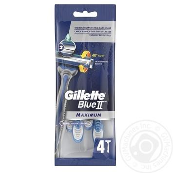 Бритвы Gillette Blue II Max одноразовые 4шт - купить, цены на Таврия В - фото 4