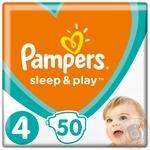 Подгузники Pampers Sleep & Play Maxi 4 7-14кг 50шт