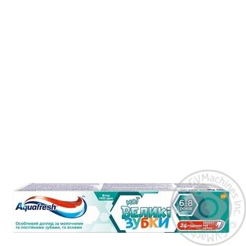 Зубная паста Aquafresh Мои большие зубки 50мл - купить, цены на Фуршет - фото 1