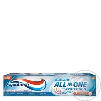 Зубная паста Aquafresh Комплексная ежедневная защита 100мл - купить, цены на Фуршет - фото 2