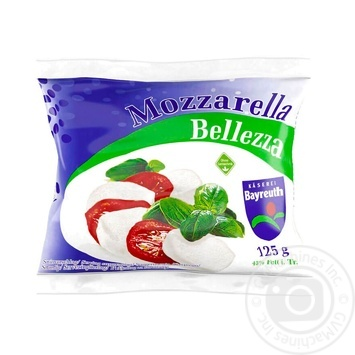 Сыр Bellezza Моцарелла 45% 125г - купить, цены на Метро - фото 1