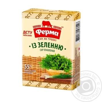 Сыр плавленый Ферма С зеленью 55% 90г - купить, цены на Novus - фото 1