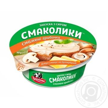 Tulchynka with taste of cheese and fried mushrooms for sandwich paste 55% 90g - buy, prices for MegaMarket - image 1