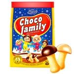 Печенье Загора Choco Family шоколадные грибочки 100г