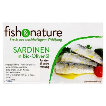 Сардини Fish & Nature в олив.ол.з/б 118г - купити, ціни на CітіМаркет - фото 1