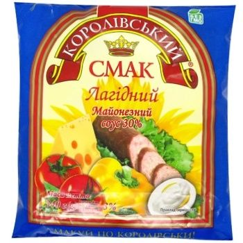 Соус Королівський смак Лагідний майонезний 30% 340г - купити, ціни на CітіМаркет - фото 1