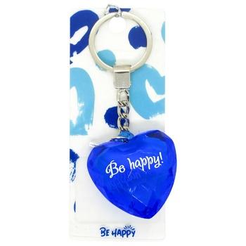 Брелок Bе Happy Сердце сувенирный - купить, цены на СитиМаркет - фото 1