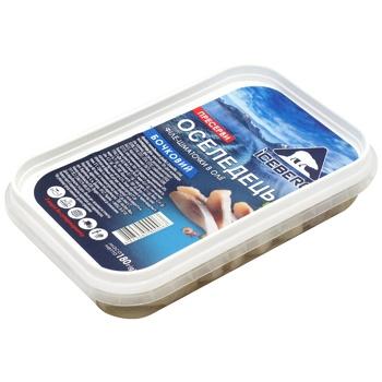 Оселедець пресерви Iceberg філе-шматочки в олії бочкова 180г - купити, ціни на CітіМаркет - фото 1
