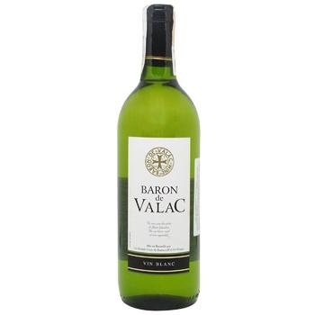 Вино Baron de Valac white dry біле сухе 0.75л - купити, ціни на CітіМаркет - фото 1