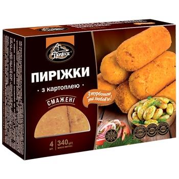 Пирожки с картошкой Полесье жареные замороженные 340г