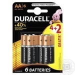 Батарейки Duracell basic 1.5V LR6 AA 6шт
