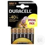 Батарейки Duracell basic LR3 AAA 6шт