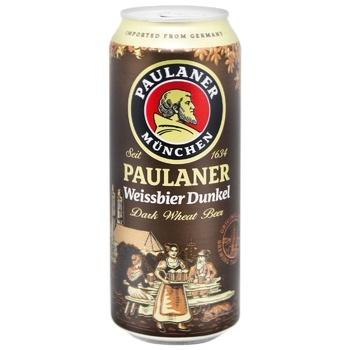 Пиво Paulaner Hefe-Weissbier темное нефильтрованное пастеризованное 5,3% 0,5л