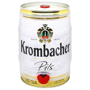 Пиво Krombacher Pils светлое 4,8% 5л