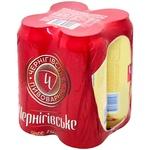 Chernigivske Svitle lager beer 4*0,5l can