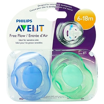 Пустышка Avent дышащая 6-18 месяцев 2шт - купить, цены на Фуршет - фото 2