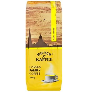 Кофе Wiener Kaffee Lvivska Family Coffee в зернах 1кг - купить, цены на СитиМаркет - фото 1
