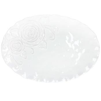 Блюдо BonaDI Аеліта овальне біле 41см - купити, ціни на Восторг - фото 1