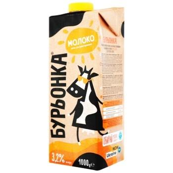 Burenka Ultrapasteurized Milk 3,2% 1l - buy, prices for Auchan - photo 1