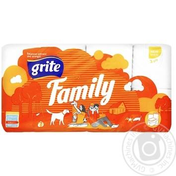 Папір туалетний Grite Family 8рул. - купити, ціни на Novus - фото 1