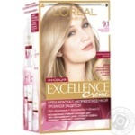 L`Oreal Paris Excel 9.1 Cream dye very light brown, ashy