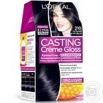 Краска-уход для волос L'Oreal Casting Creme Gloss 210 Черный перламутровый без аммиака
