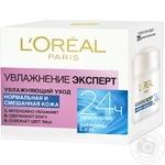 Крем для нормальної та комбінованої шкіри L'oreal Paris Зволоження експерт 50мл