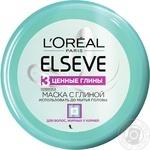 Маска L'Oreal Elseve 3 цінні глини для жирного біля коріння волосся 150мл - купити, ціни на Novus - фото 1